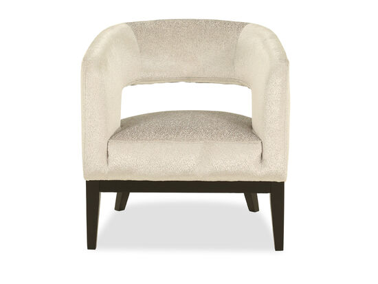 Contemporary Nailhead-Accented Chair in Cream