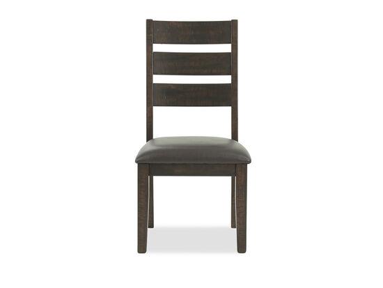 Slat Back 40'' Side Chair in Dark Brown