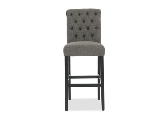 """Button Tufted 39"""" Armless Bar Stool in Gray"""