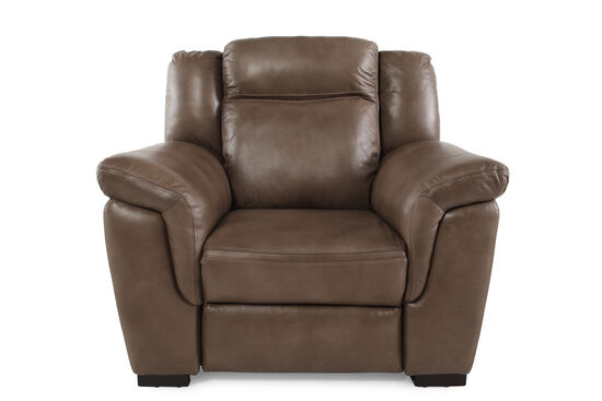 "Contemporary 44"" Power Recliner in Nutmeg Brown"
