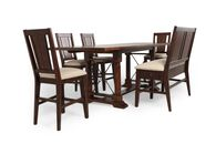 "Six-Piece 36"" Traditional Pub Set in Rustic Oak"