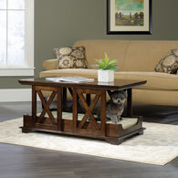 MB Home Golden Gate Espresso Coffee Table Pet Bed