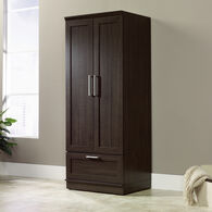 """71"""" Contemporary Framed Panel Doors Wardrobein Dark Oak"""