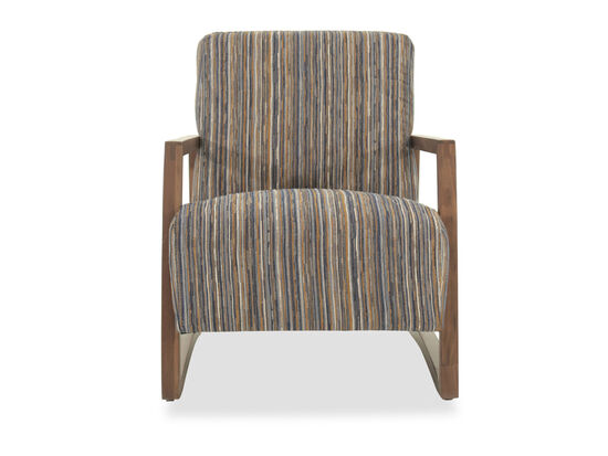 "Striped Mid-Century Modern 28"" Accent Chair"