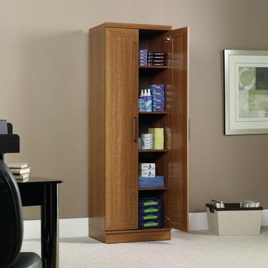 Two-Door Contemporary Storage Cabinet in Sienna Oak