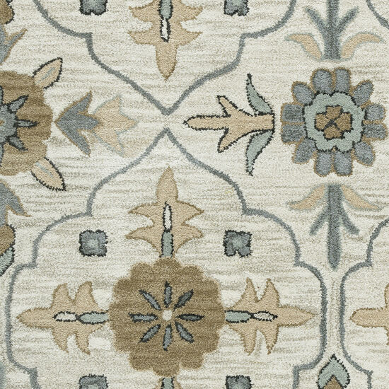 Transitional Hand-Tufted 8'  x  10' Rectangle Rug in Taupe