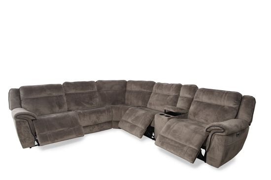 Six-Piece Contemporary Power Sectional in Dove Gray