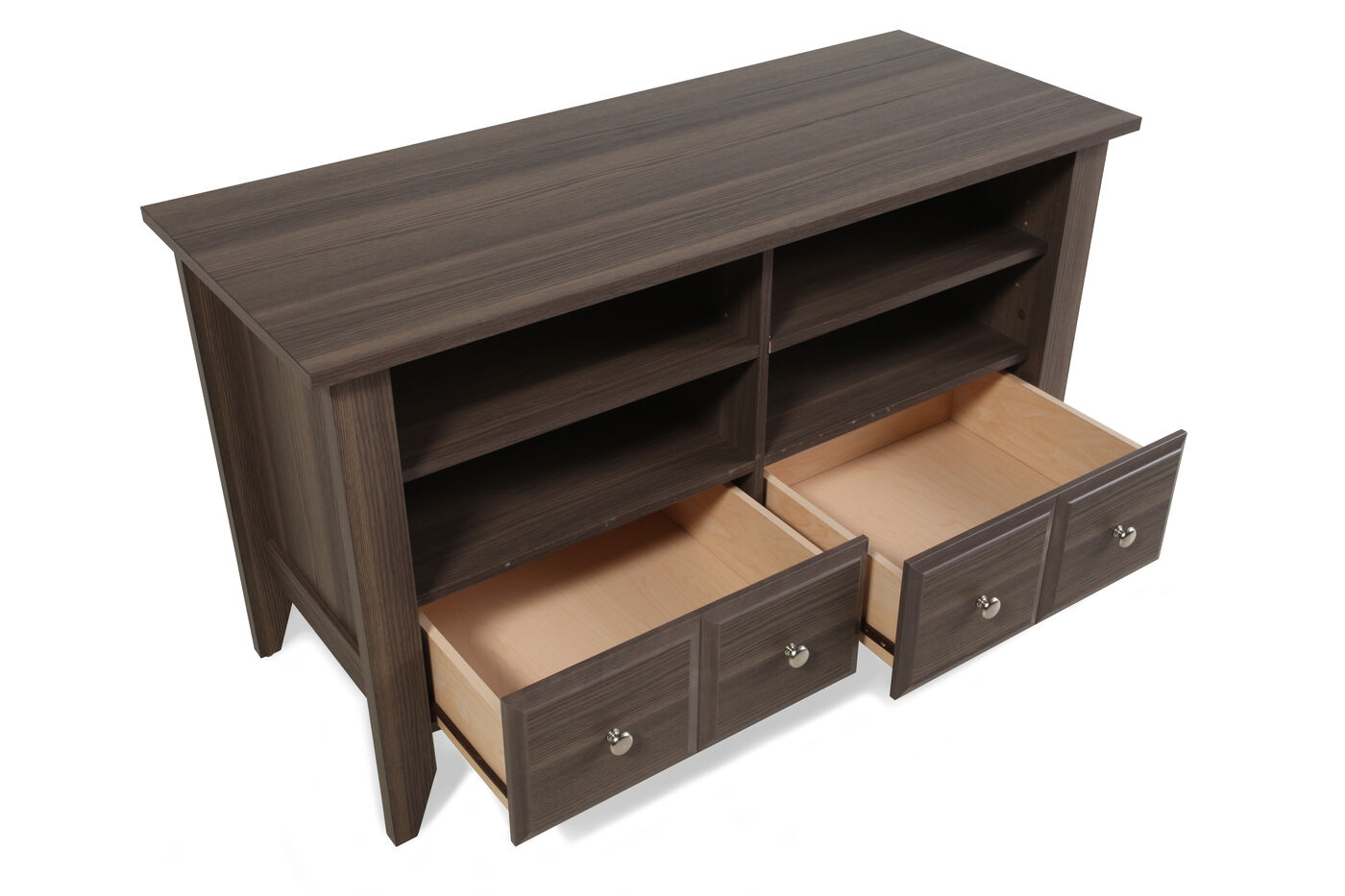 Two-Drawer Casual TV Stand in Brown Diamond Ash | Mathis Brothers ...