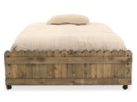 Traditional Youth Full Caster Bed in Brown