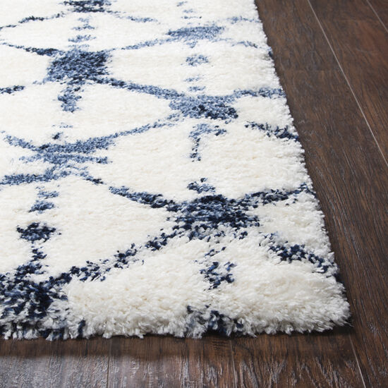 """Transitional Power-Loomed 7'10"""" x 10'6"""" Rectangle Rug in Ivory"""