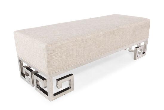 """56"""" Steel Bed Bench in Beige"""