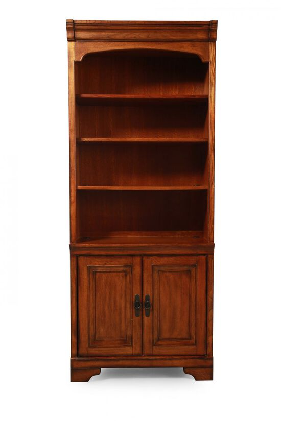 Two-Door Traditional Bookcase in Oak