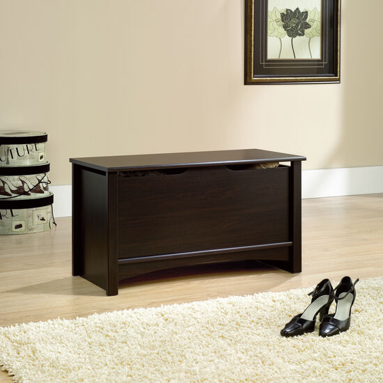 """19"""" Traditional Square Storage Chest in Jamocha Wood"""