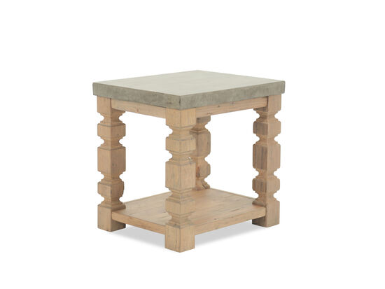 Rectangular Traditional End Table in Brown