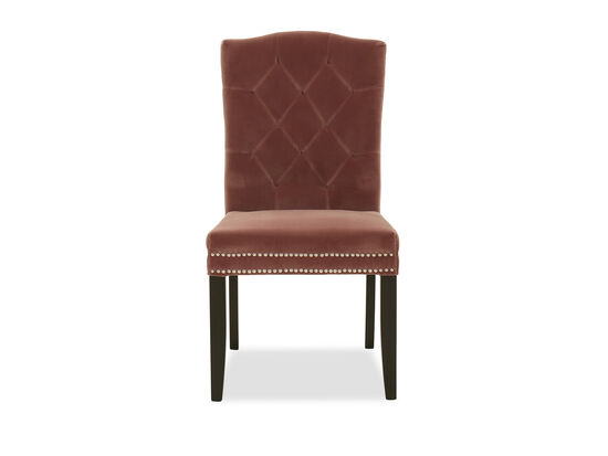 Contemporary Tufted Dining Chair in Mauve
