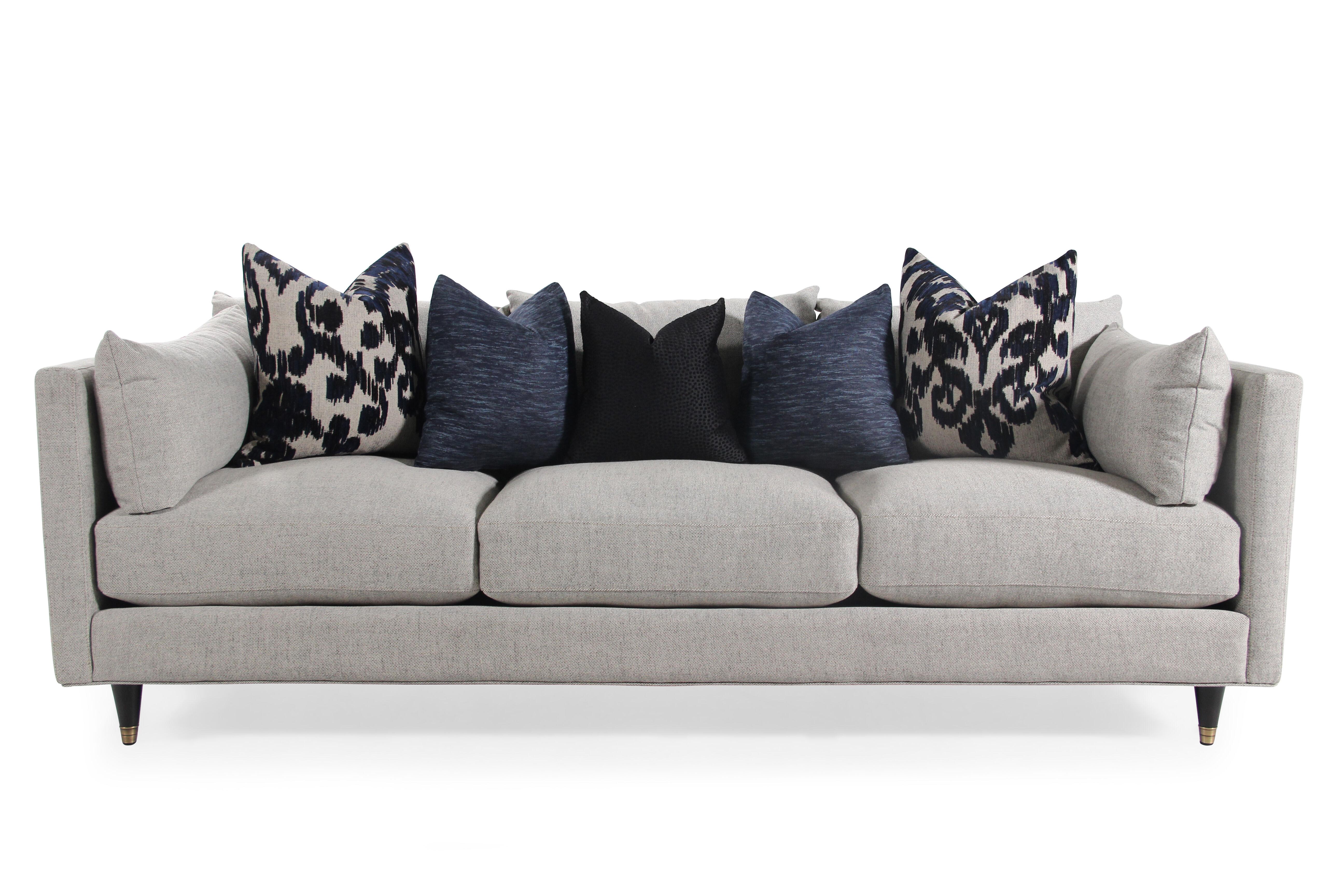 Nice Images Low Profile Mid Century Modern 45u0026quot; Sofa In Gray Low Profile  Mid Century Modern 45u0026quot; Sofa In Gray