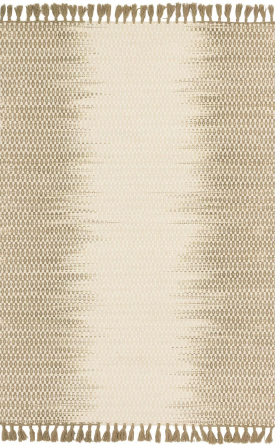 """Transitional 1'-6""""x1'-6"""" Square Rug in Ivory/Olive"""