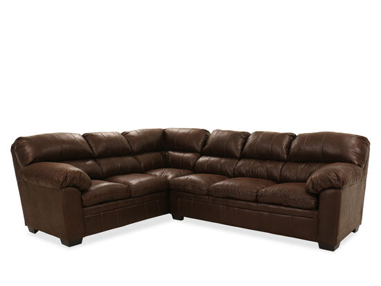 Two-Piece Pillow-Top Sectional in Brown
