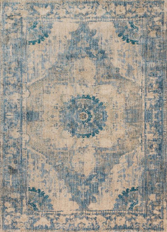 """Contemporary 1'-6""""x1'-6"""" Square Rug in Sand/Sky"""