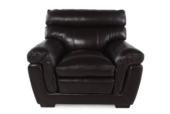"Casual Leather 45"" Chair in Blackberry"