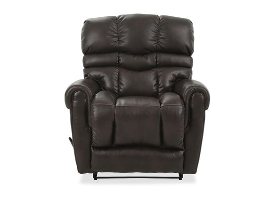 Leather Wall Saver Recliner in Brown