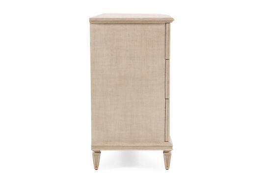 """39"""" Hand Distressed Nine-Drawer Dresser in Antique Cream"""