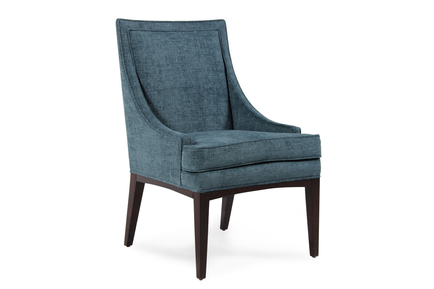Wingback 38 39 39 dining chair in blue mathis brothers furniture for Dining room wingback chairs