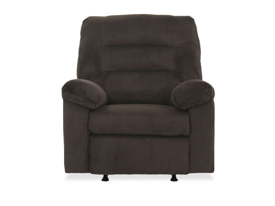 "Contemporary 39"" Rocker Recliner in Brown"
