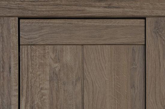 One-Door Traditional Narrow Cabinet in Fossil Oak
