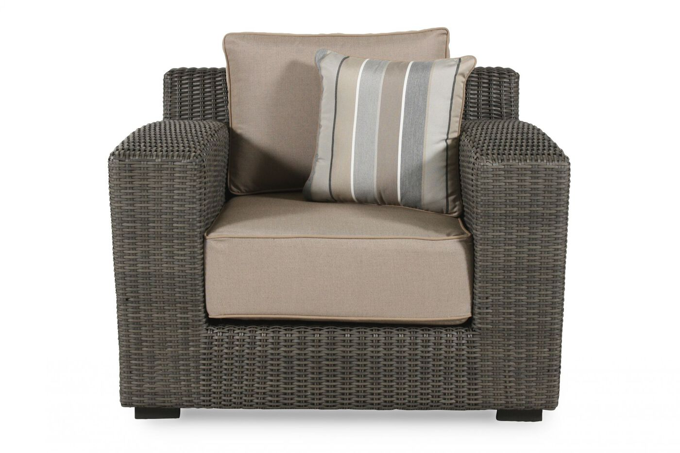 Low Profile Casual Lounge Chair In Dark Gray Mathis Brothers Furniture