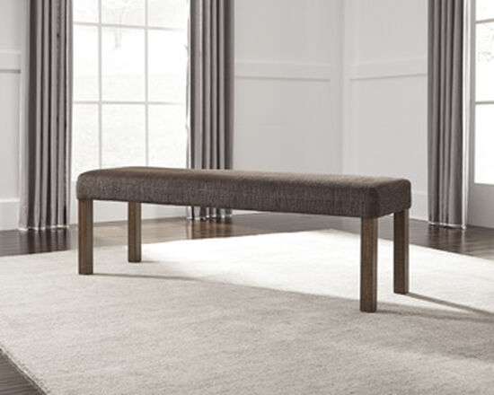 Ashley Tamilo Light Brown Large Upholstered Dining Room Bench