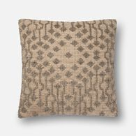 "Loloi Contemporary 22""x22"" Cover w/poly pillow in Taupe"