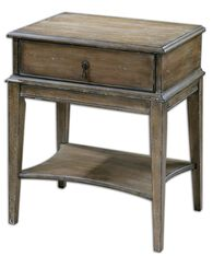 One-Drawer Accent Table in Weathered Pine