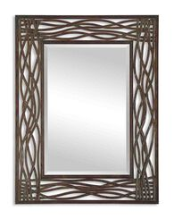 "42"" Twisted Accent Mirror in Mocha Brown"