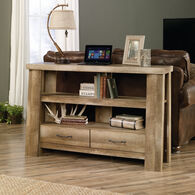 Two-Drawer Contemporary Console in Oak