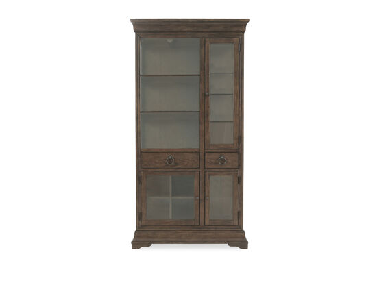 """84"""" Traditional Display Curio Armoirein Brown"""