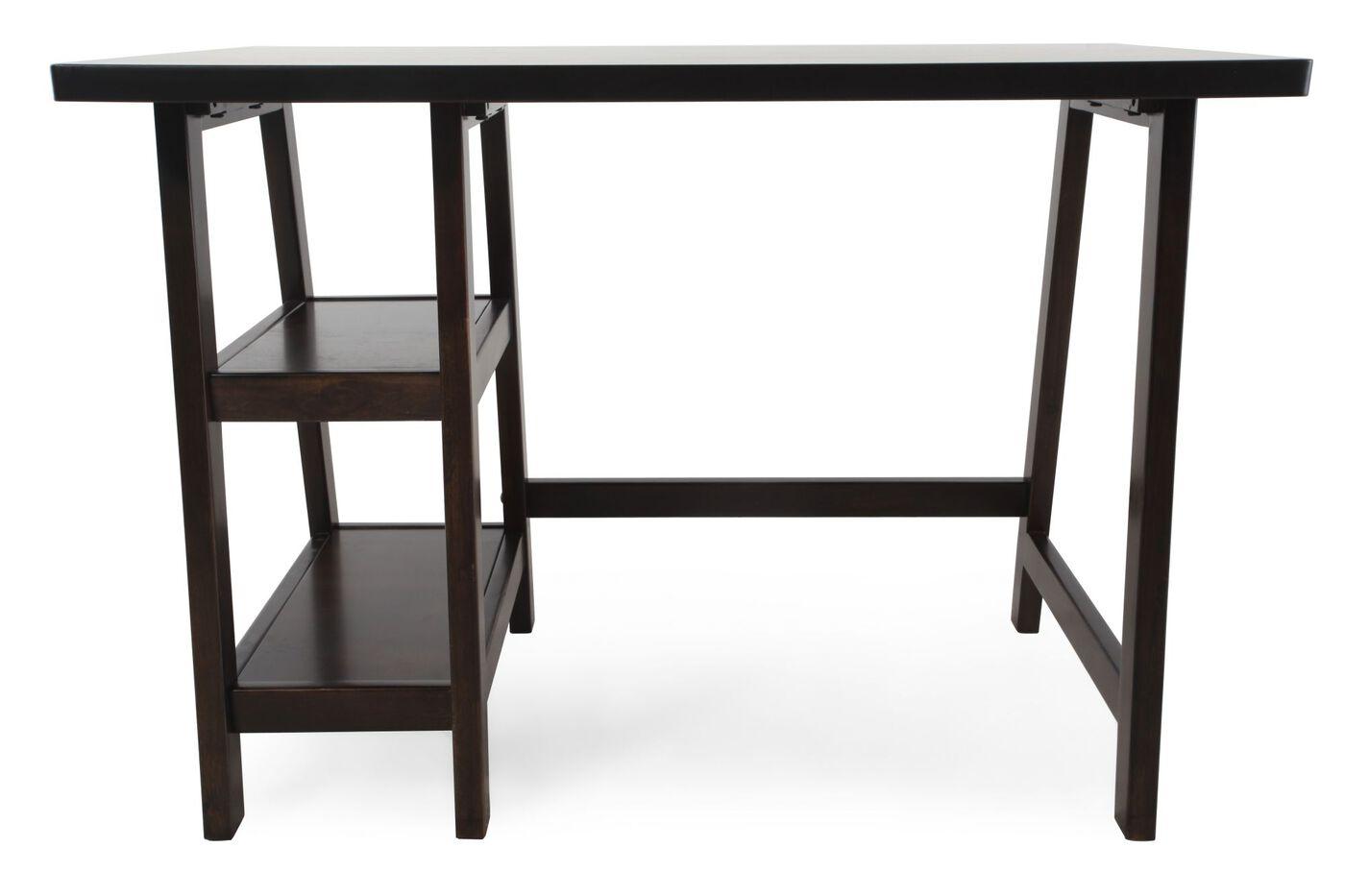 "42"" Casual A-Frame Leg Desk in Brown"