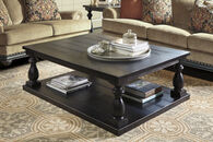 Ashley Mallacar Black Rectangular Cocktail Table