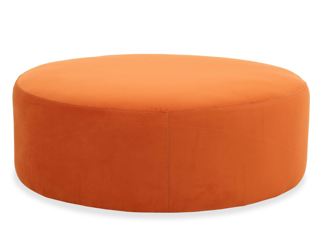 Images Modern 42 Round Tail Ottoman In Orange