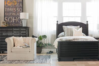 Universal Black & White Youth Twin Reading Bed
