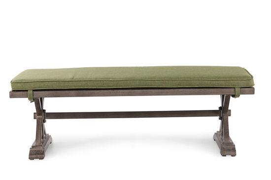 X-Pedestal Aluminum Bench in Green