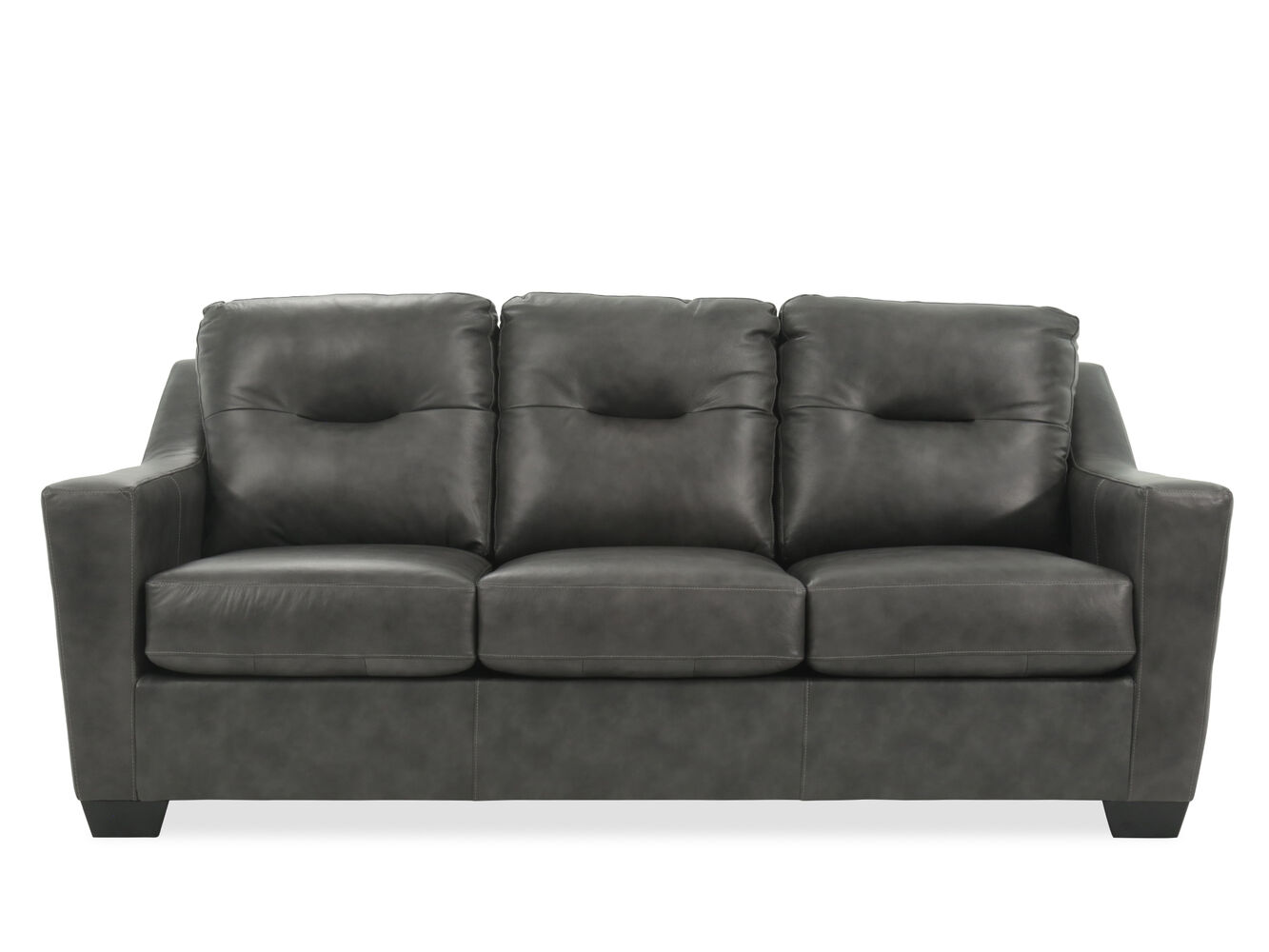 Charcoal Leather Sofa Corinthian Brooklyn Charcoal 42801