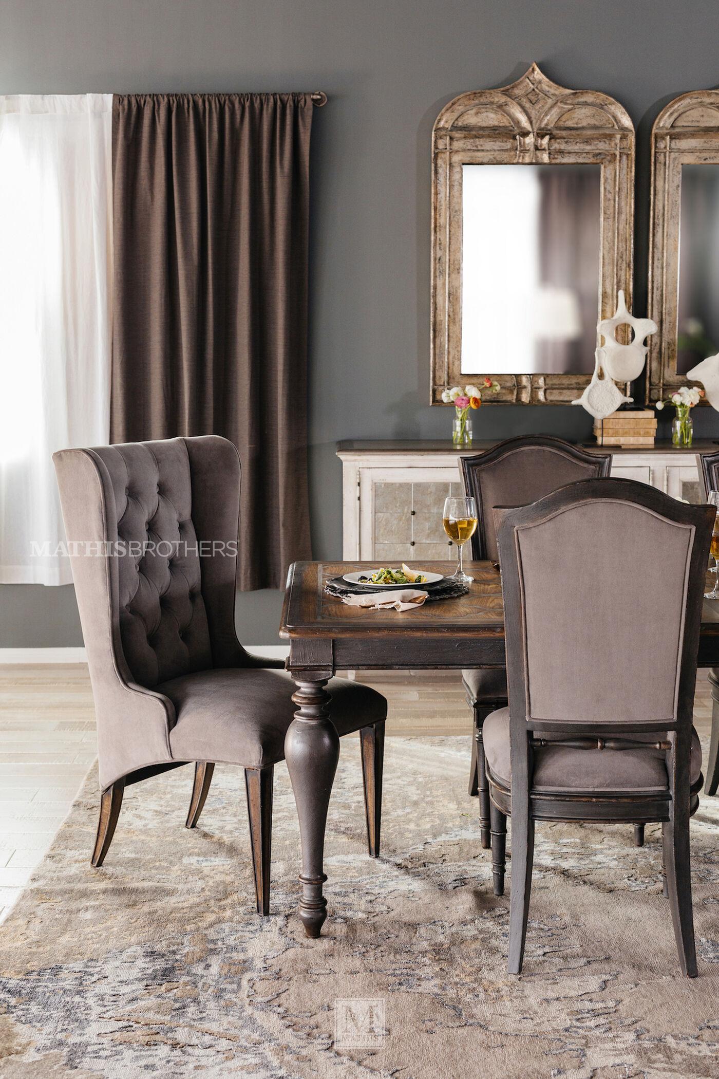 hooker arabella upholstered host chair | mathis brothers furniture