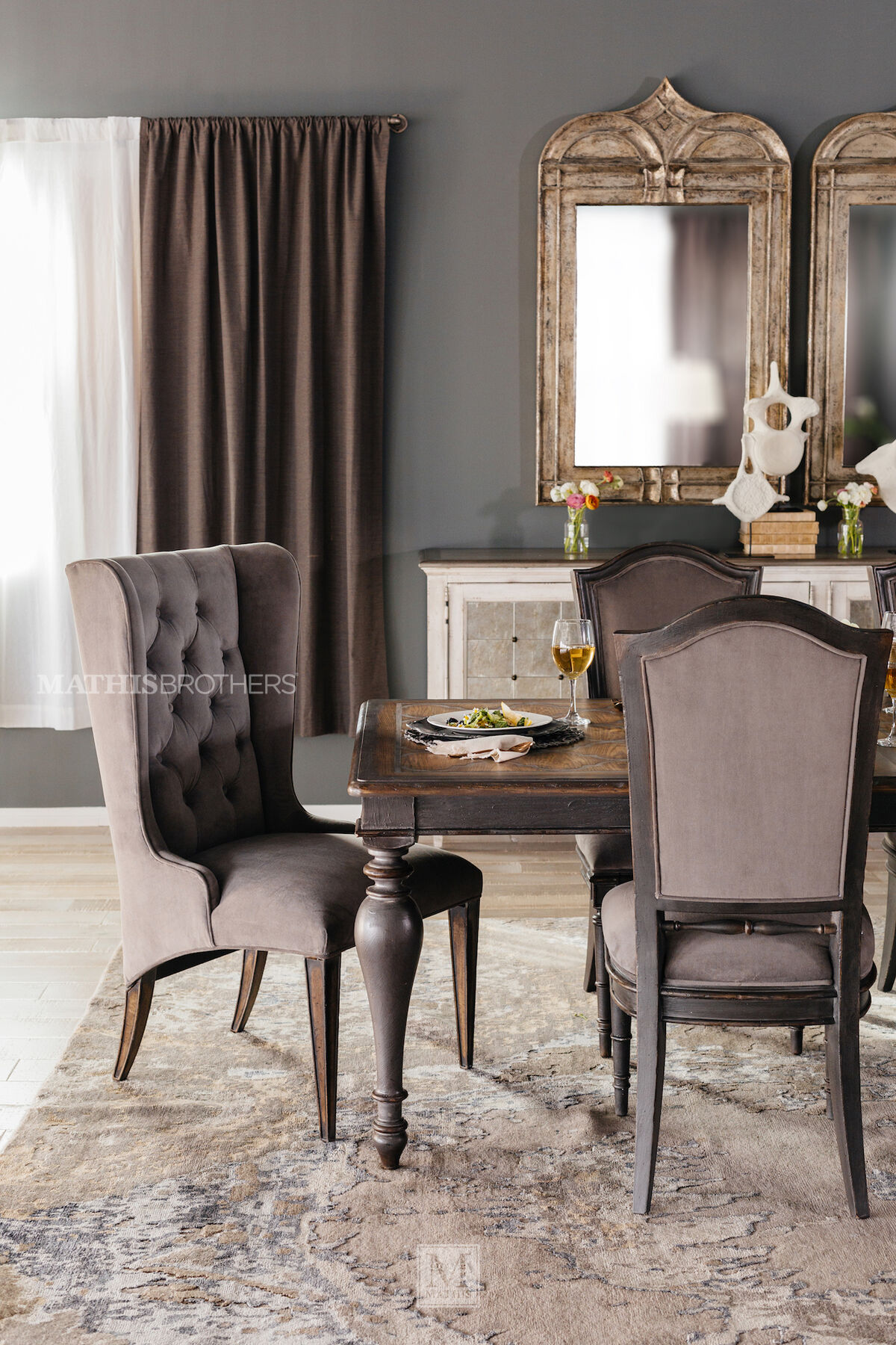 Refined Romantic Luxury 45.5u0026quot; Host Chair ... : dining room host chairs - Cheerinfomania.Com