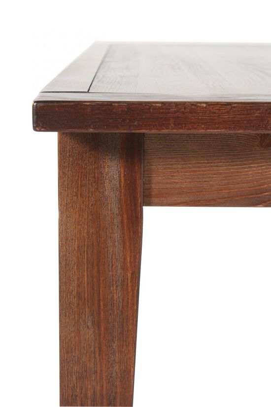 """Casual 68"""" Plank Top Dining Table in Natural Brown"""