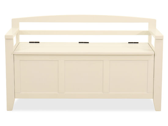 Casual Storage Bench in White