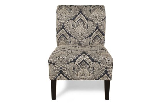 """Lace Patterned Contemporary 22"""" Accent Chair"""