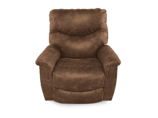 "Traditional 39"" Rocker Recliner in Brown"