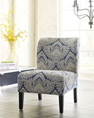 """Patterned Contemporary 22"""" Accent Chair in Cream"""