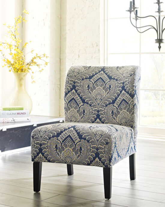 "Patterned Contemporary 22"" Accent Chair in Cream"